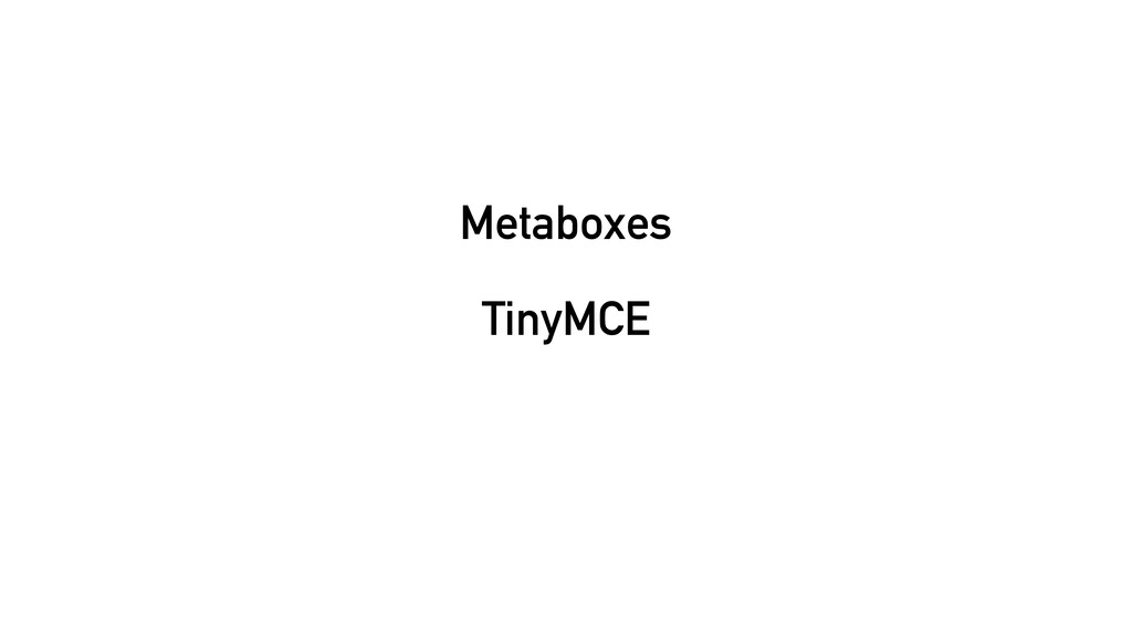 Metaboxes TinyMCE