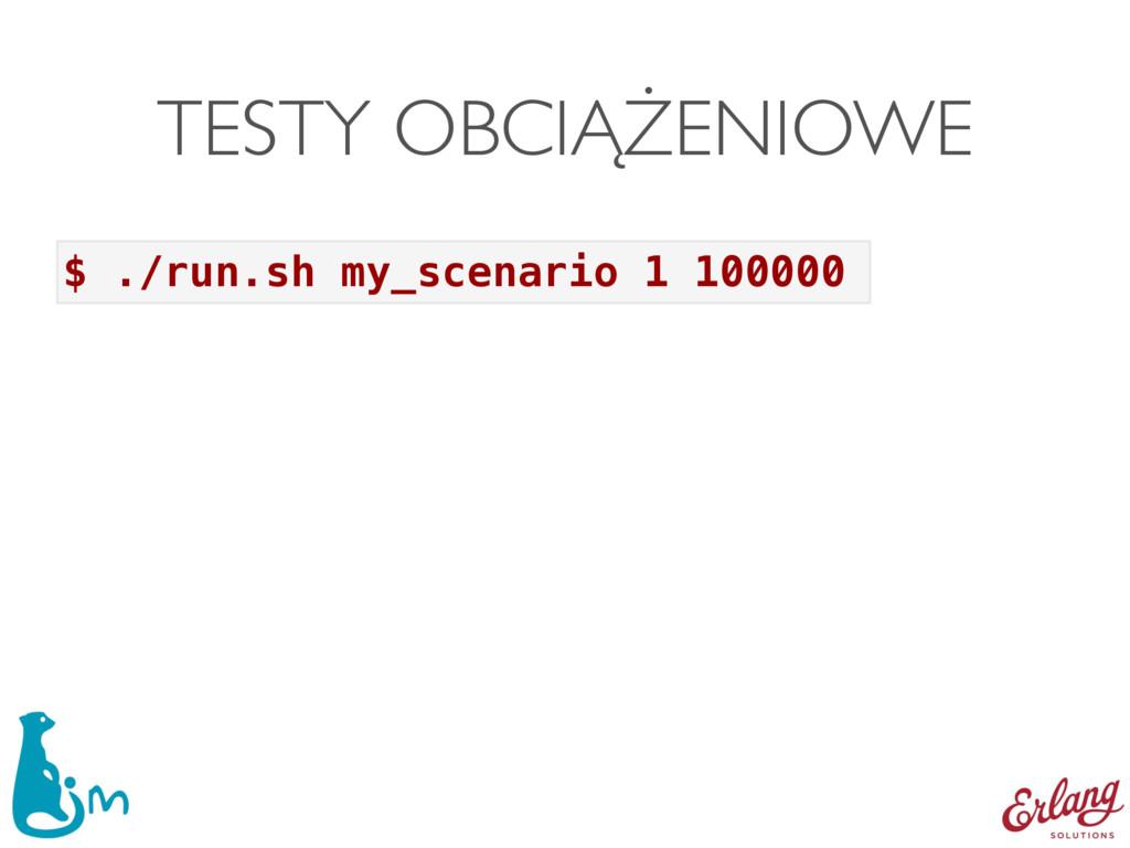 TESTY OBCIĄŻENIOWE $ ./run.sh my_scenario 1 100...