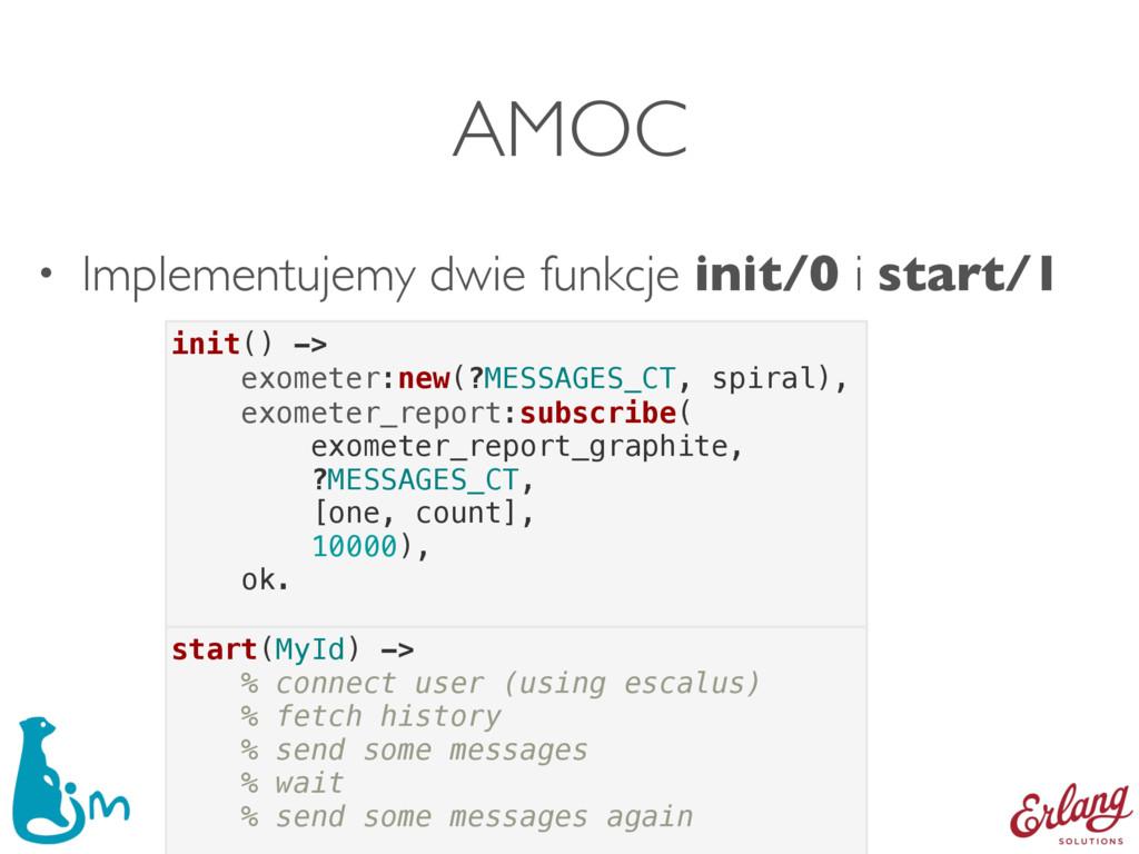• Implementujemy dwie funkcje init/0 i start/1 ...