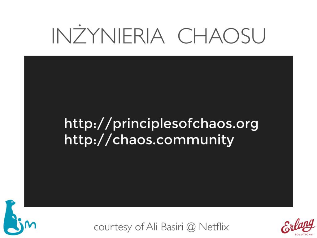 INŻYNIERIA CHAOSU http://principlesofchaos.org ...