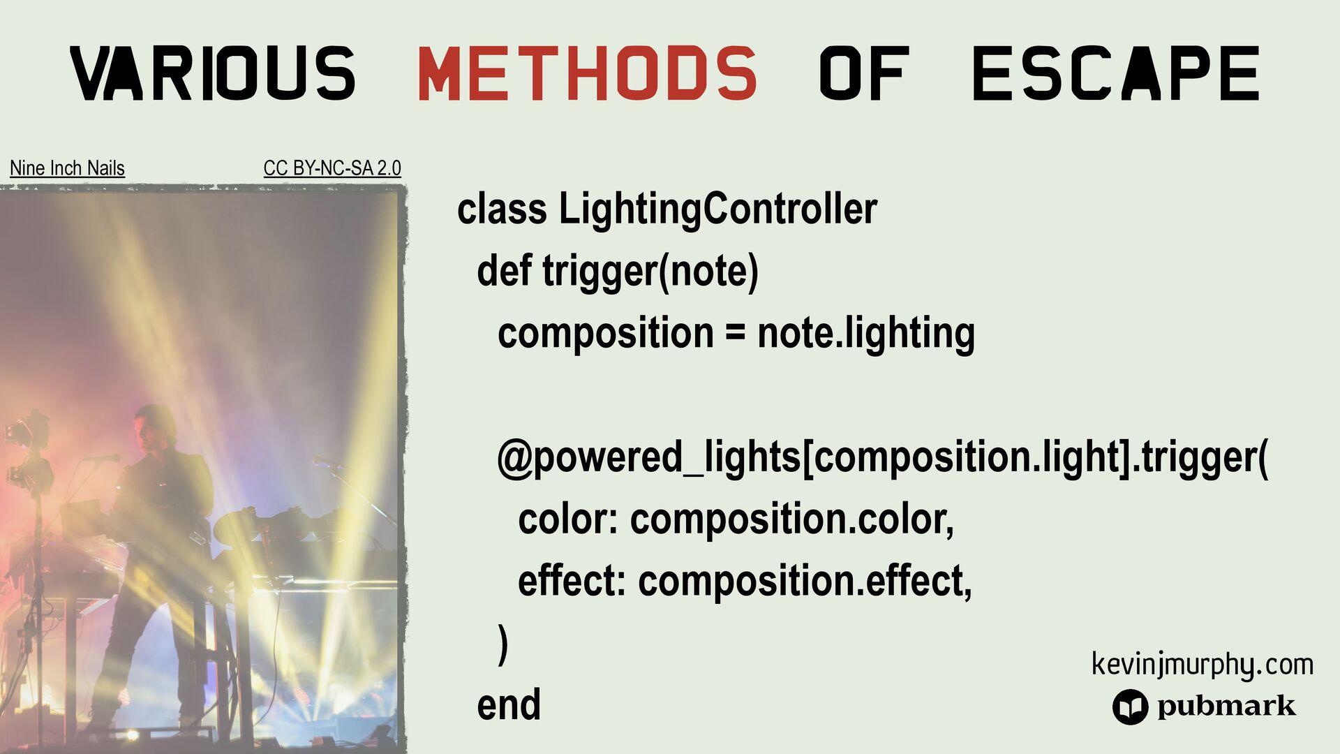 @kevin_j_m Various Methods Of Escape class Beam...