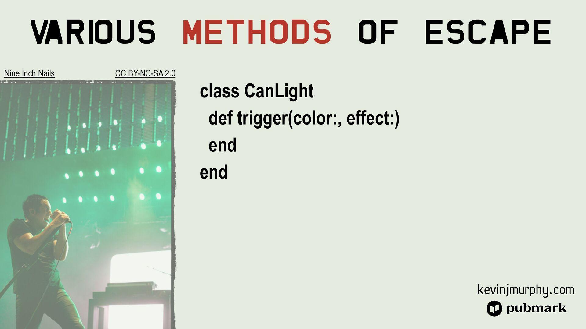 @kevin_j_m Various Methods Of Escape class Movi...