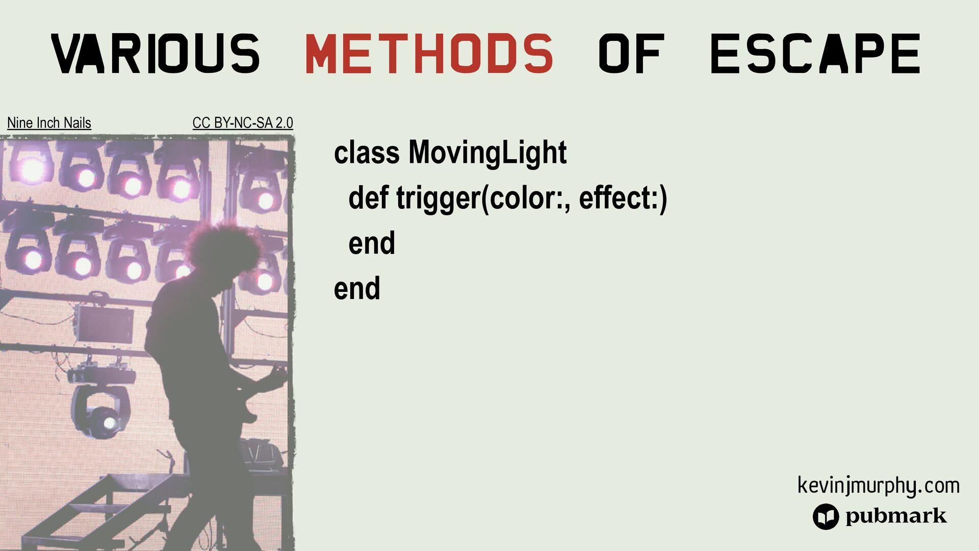 @kevin_j_m Various Methods Of Escape class Spot...