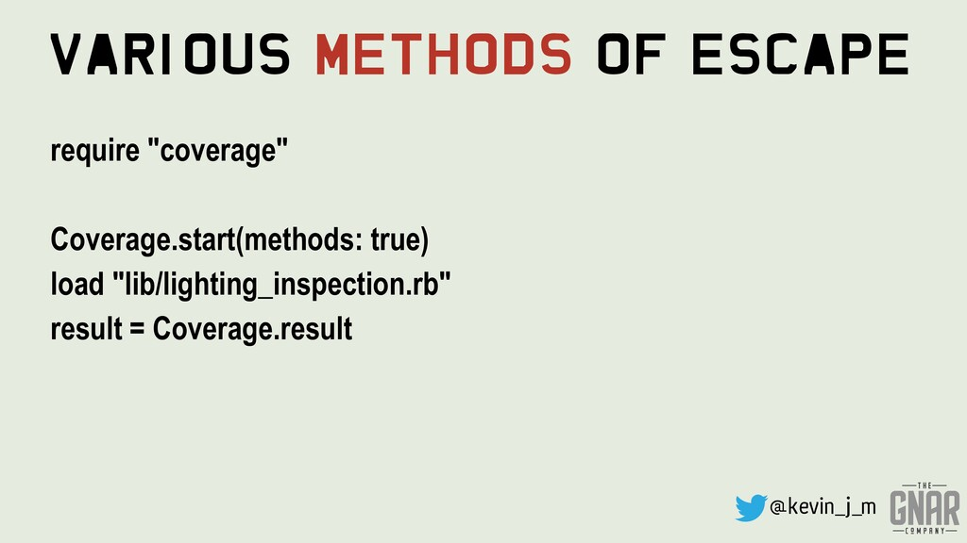 "@kevin_j_m Various Methods Of Escape require ""c..."