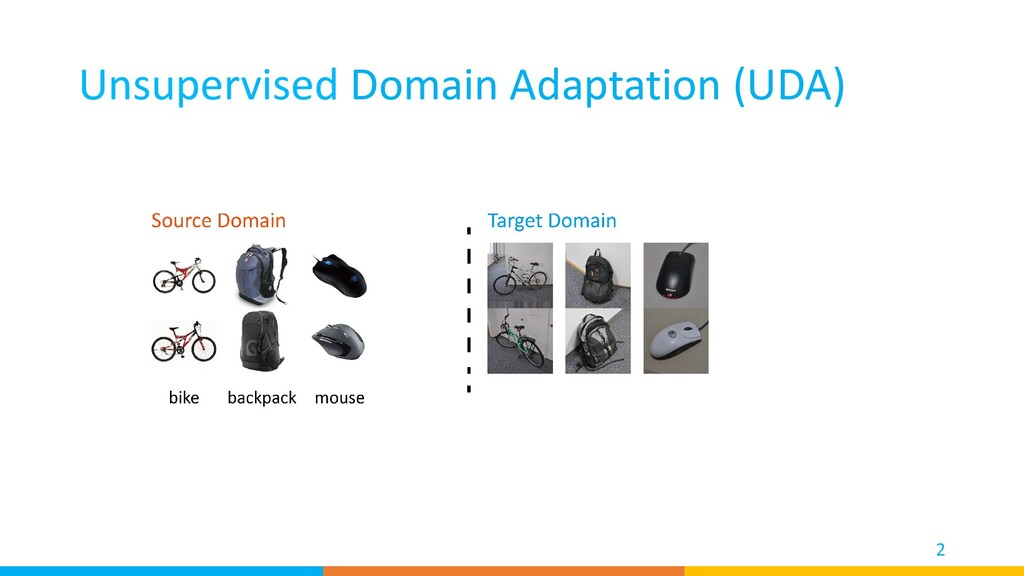 Unsupervised Domain Adaptation (UDA) 2