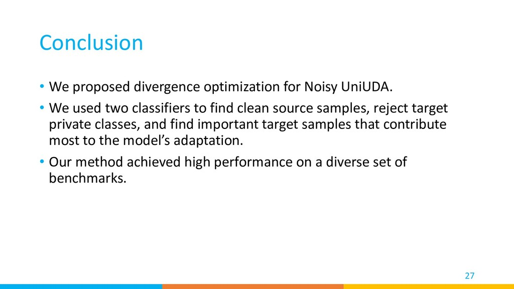 Conclusion • We proposed divergence optimizatio...