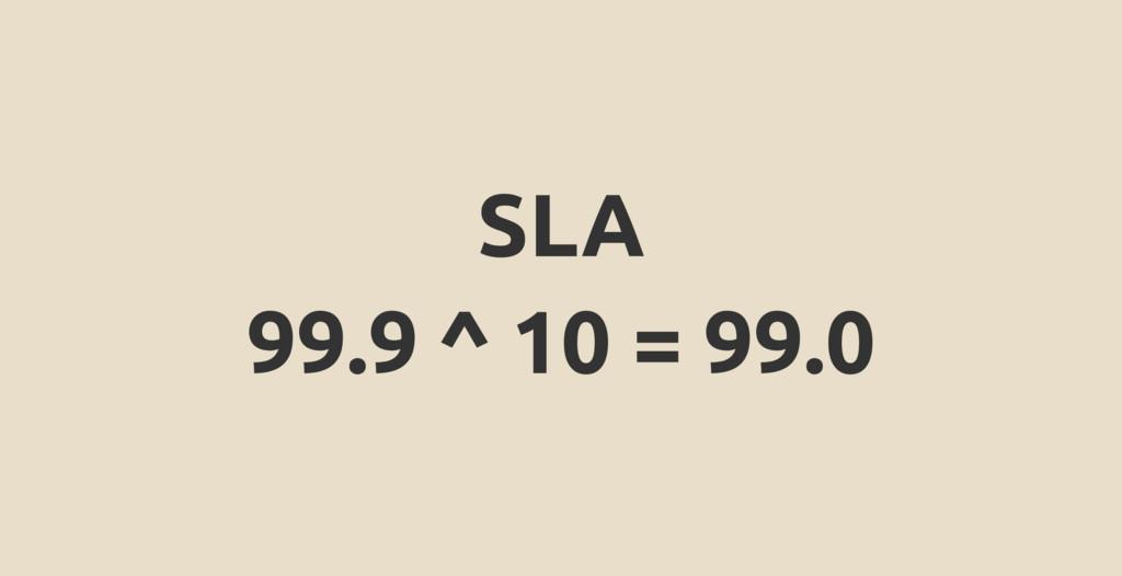 SLA 99.9 ^ 10 = 99.0