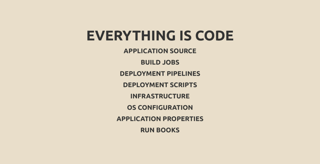 EVERYTHING IS CODE APPLICATION SOURCE BUILD JOB...