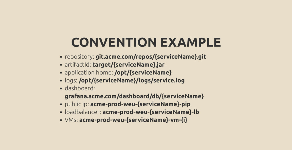 CONVENTION EXAMPLE repository: git.acme.com/rep...