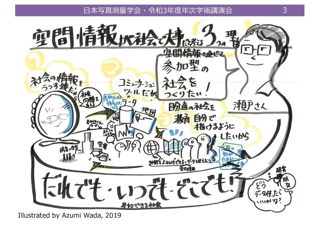 ⽇本写真測量学会・令和3年度年次学術講演会 3 Illustrated by Azumi Wa...