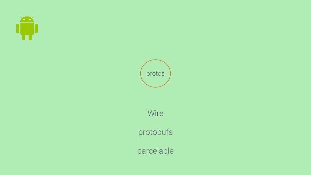 protos Wire protobufs parcelable
