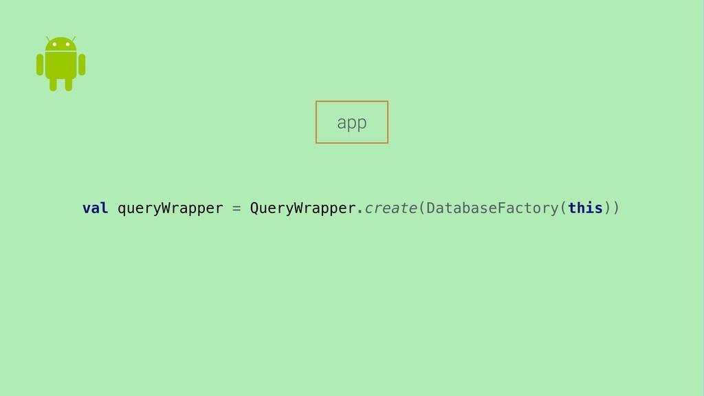 val queryWrapper = QueryWrapper.create(Database...