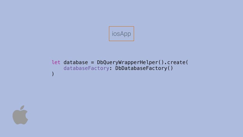 iosApp let database = DbQueryWrapperHelper().cr...