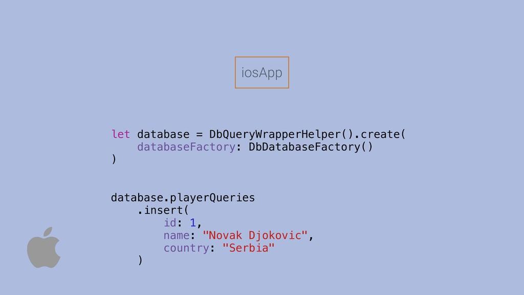 let database = DbQueryWrapperHelper().create( d...