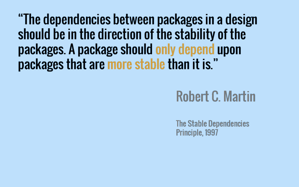 """The dependencies between packages in a design ..."