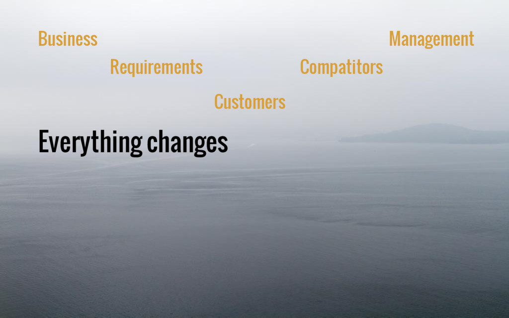 Everything changes Business Requirements Custom...