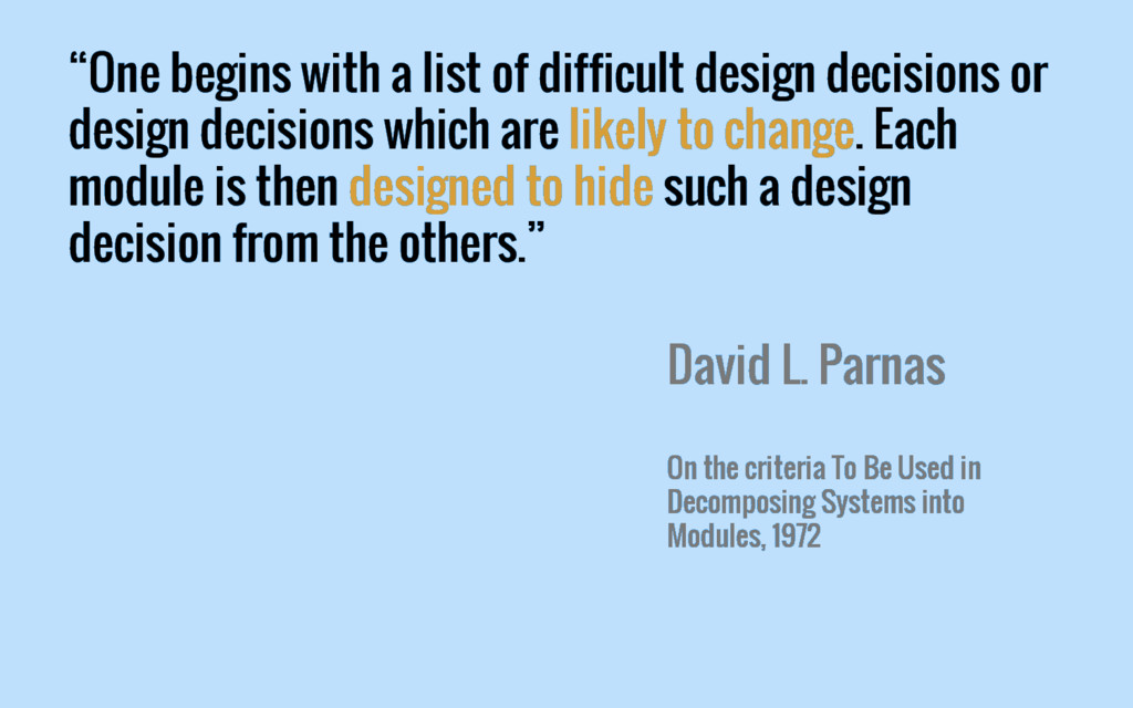 """One begins with a list of difficult design dec..."