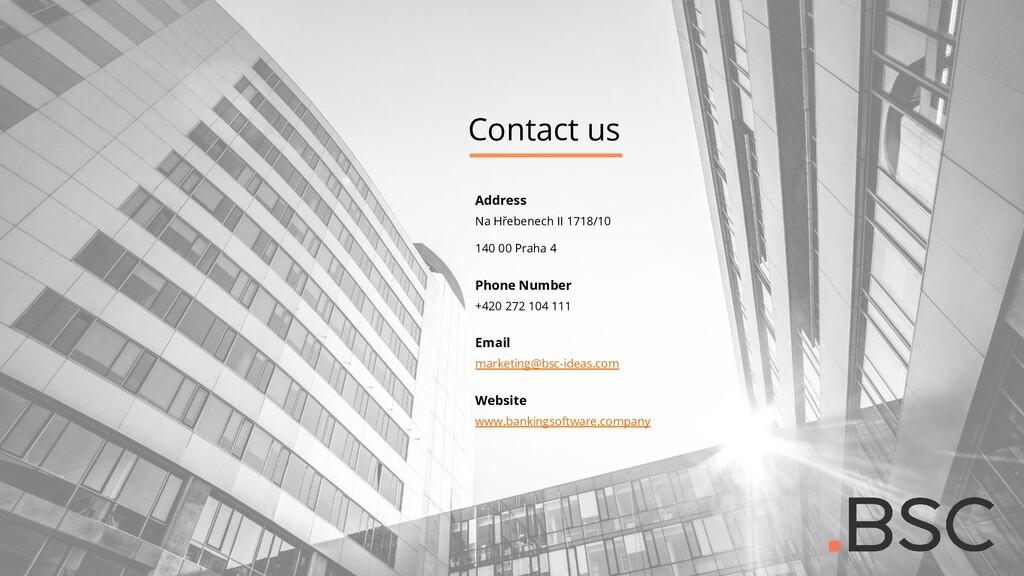 Contact us Address Na Hřebenech II 1718/10 140 ...