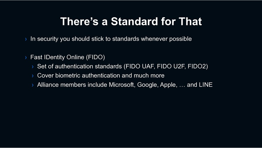 There's a Standard for That › In security you s...