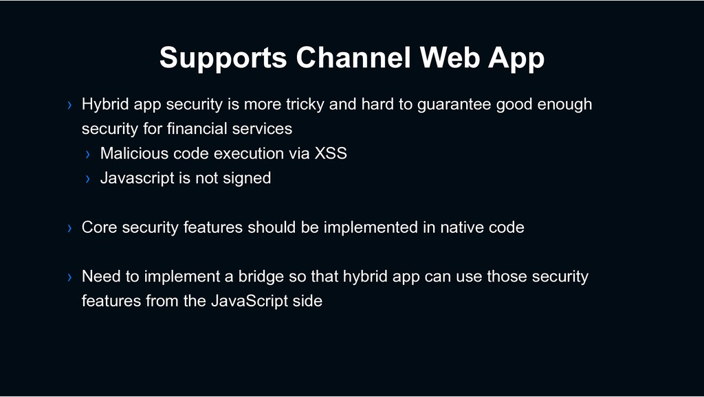 Supports Channel Web App › Hybrid app security ...