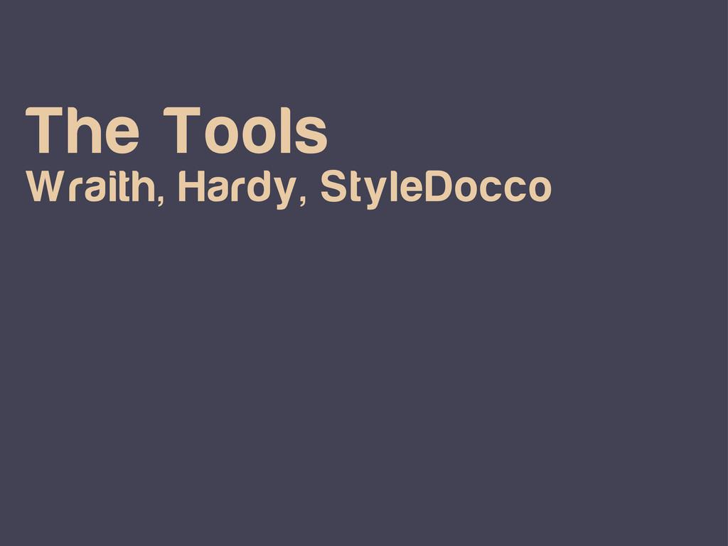 The Tools Wraith, Hardy, StyleDocco