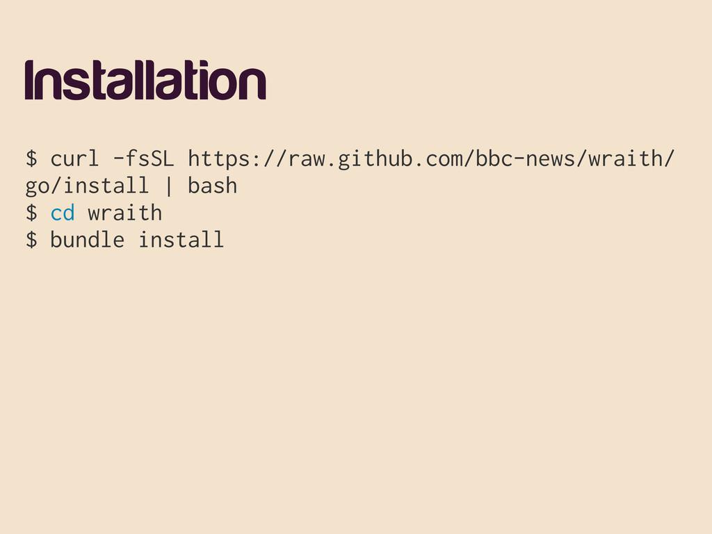 Installation $ curl -fsSL https://raw.github.co...