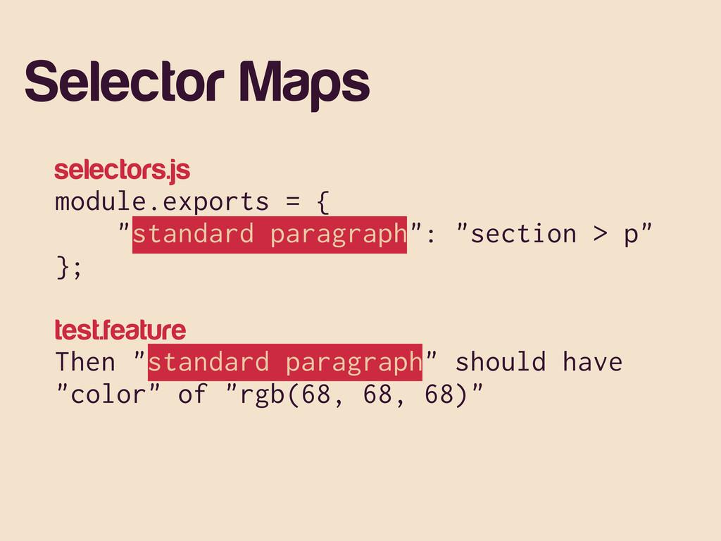 """selectors.js module.exports = { """"standard parag..."""