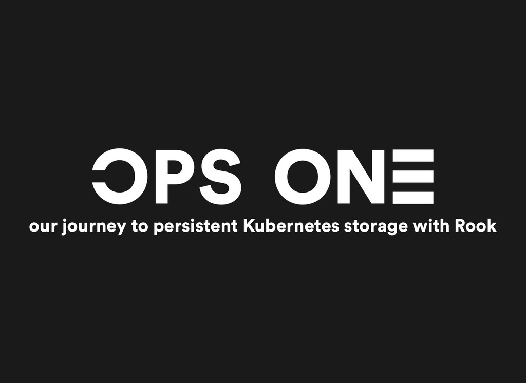 our journey to persistent Kubernetes storage wi...