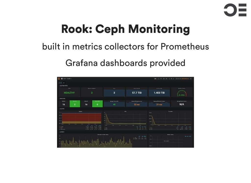 Rook: Ceph Monitoring Rook: Ceph Monitoring bui...