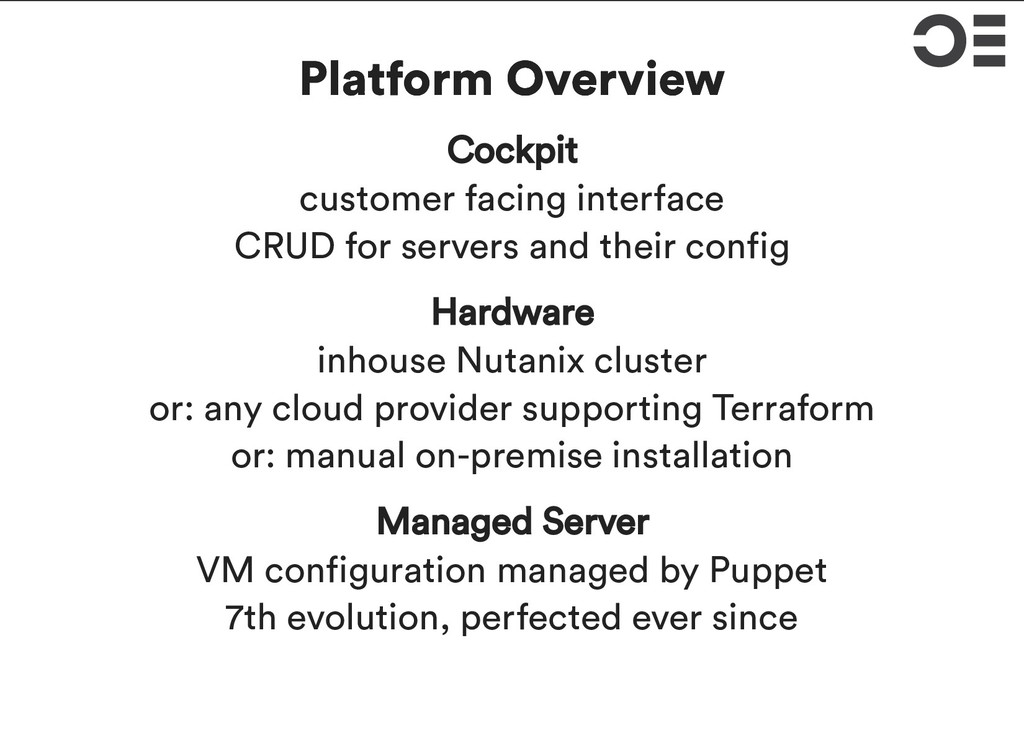 Platform Overview Platform Overview Cockpit cus...