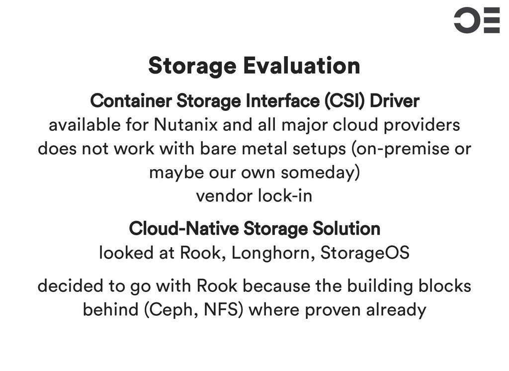 Storage Evaluation Storage Evaluation Container...
