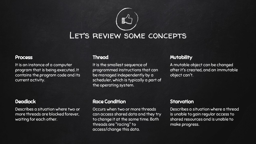 Let's review some concepts Process It is an ins...