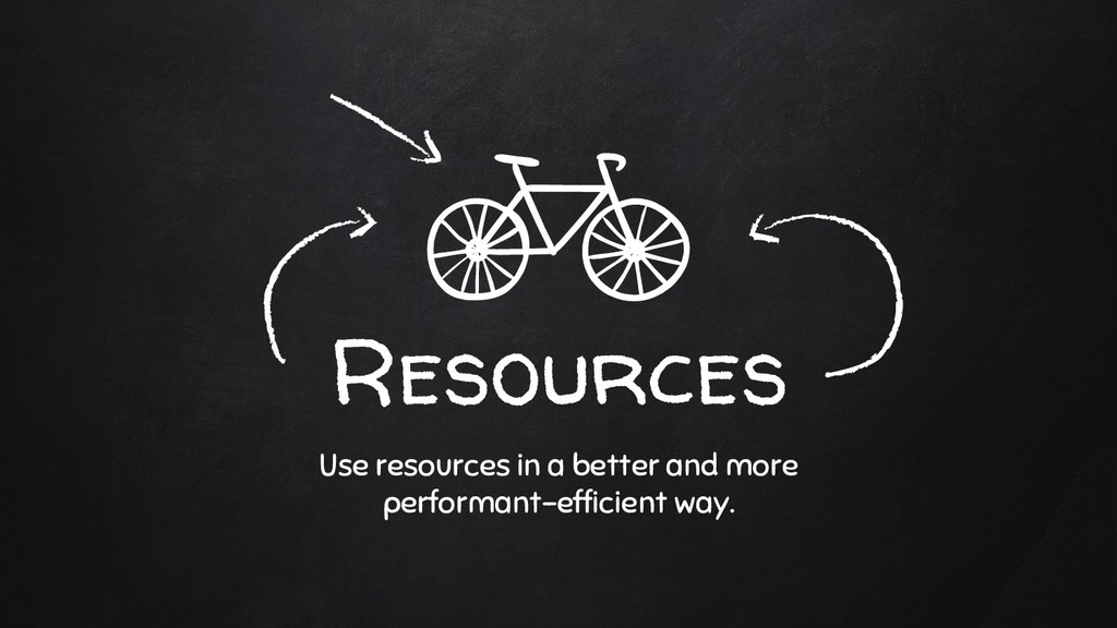 Resources Use resources in a better and more pe...