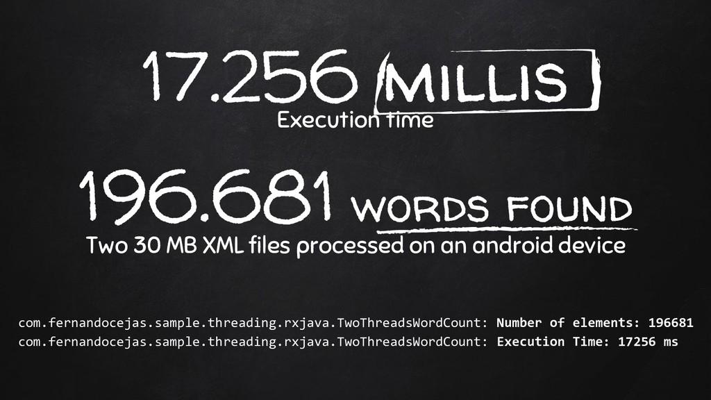 17.256 millis Execution time 196.681 words foun...
