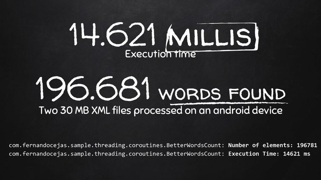 14.621 millis Execution time 196.681 words foun...