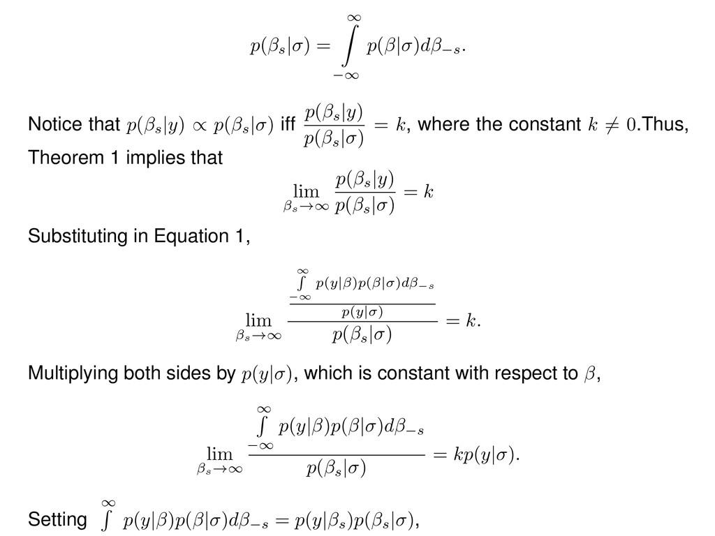 p( s | ) = 1 Z 1 p( | )d s . Notice that p( s |...
