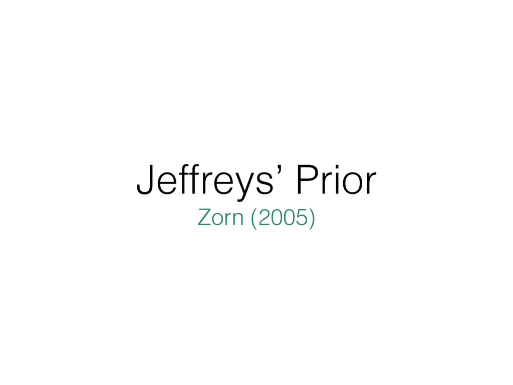 Jeffreys' Prior Zorn (2005)
