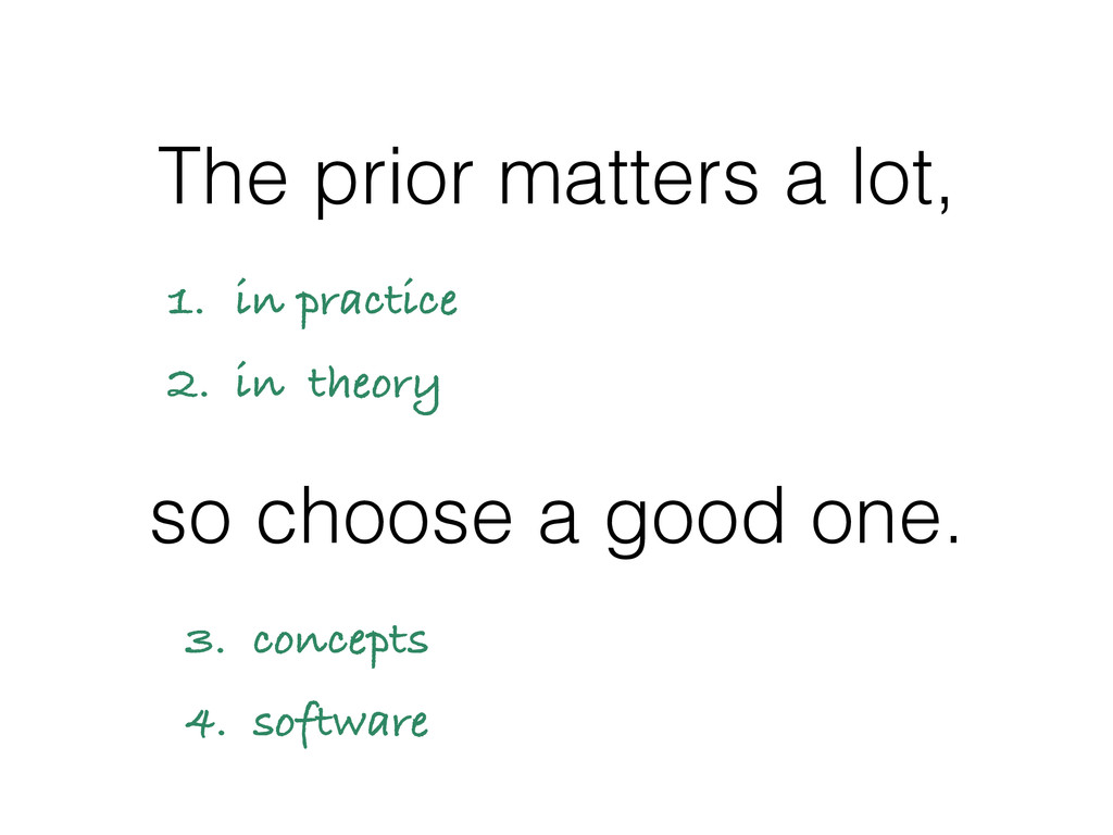 The prior matters a lot, so choose a good one. ...