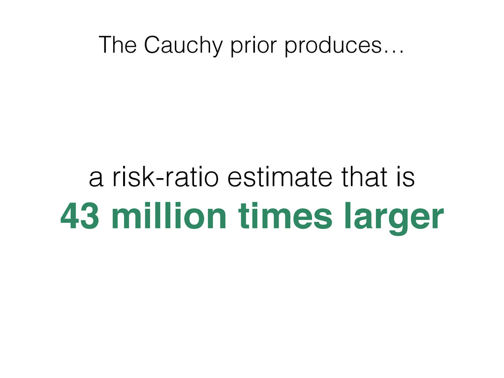 The Cauchy prior produces… a risk-ratio estimat...