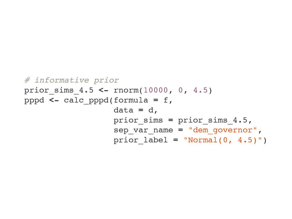 # informative prior prior_sims_4.5 <- rnorm(100...