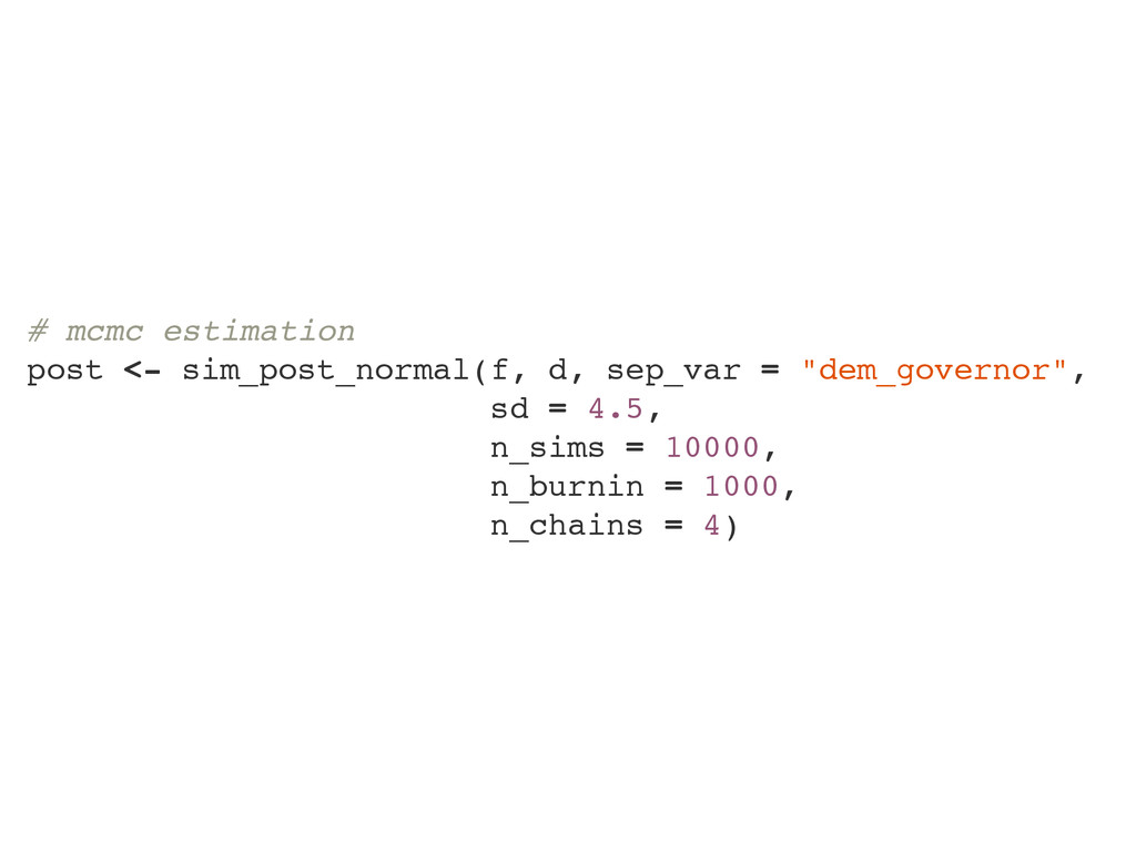 # mcmc estimation post <- sim_post_normal(f, d,...