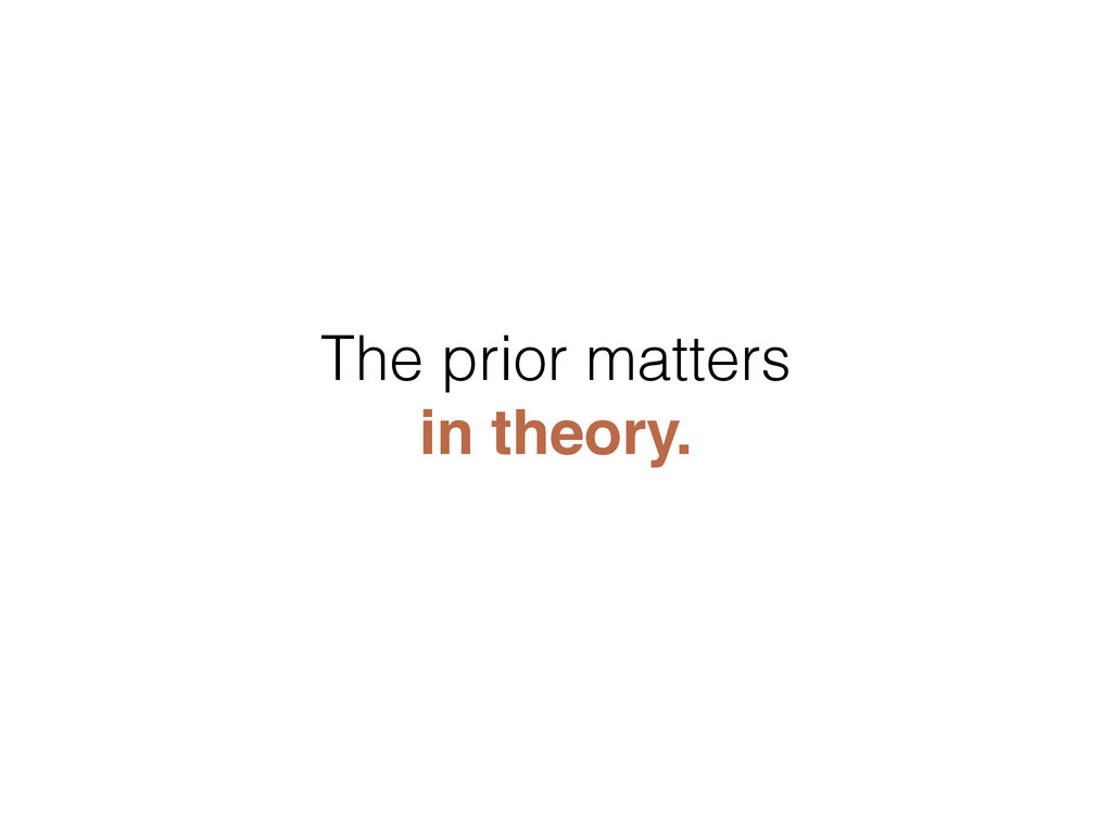 The prior matters in theory.