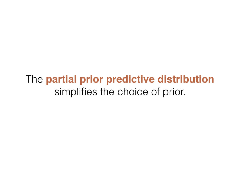 The partial prior predictive distribution simpl...