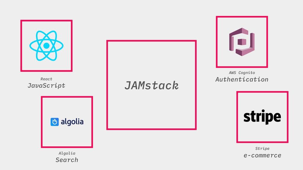 JAMstack JAMstack Algolia Search Stripe e-comme...