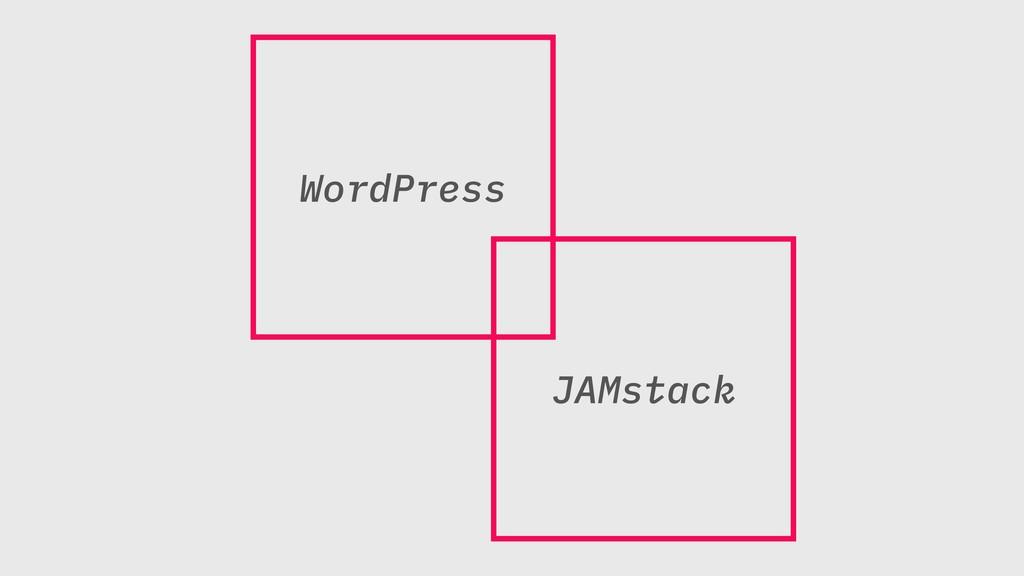 WordPress JAMstack