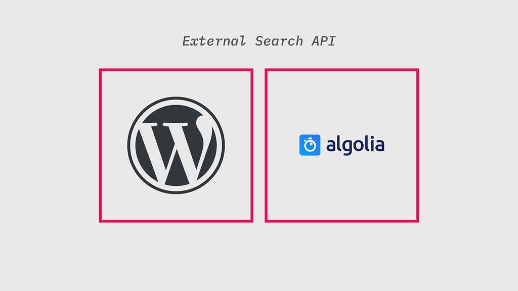 External Search API