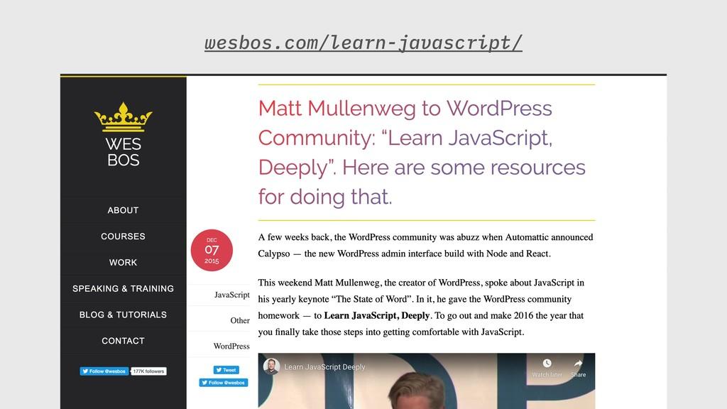 wesbos.com/learn-javascript/