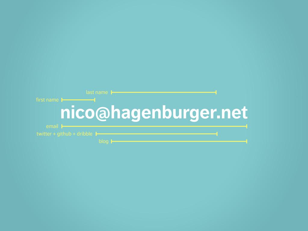 nico@hagenburger.net email twitter + github + d...