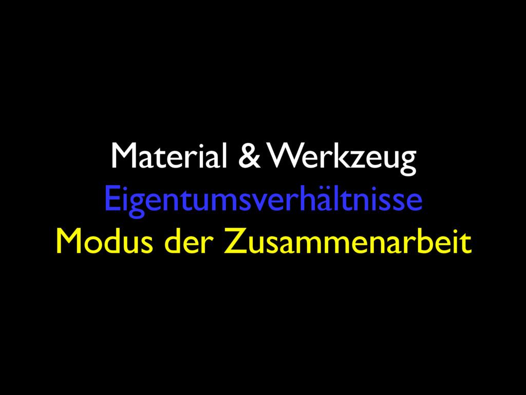 Material & Werkzeug Eigentumsverhältnisse Modus...