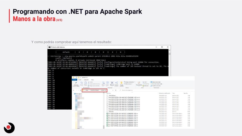 Programando con .NET para Apache Spark Manos a ...
